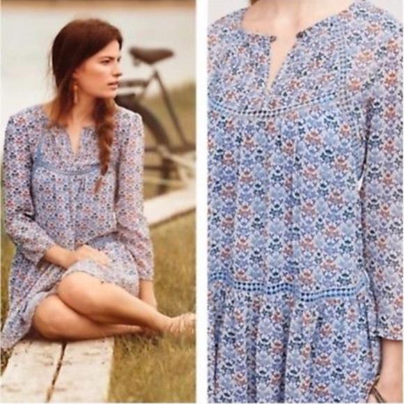 Anthropologie Dresses & Skirts - Holding Horses Anthropologie Floral Tunic Dress